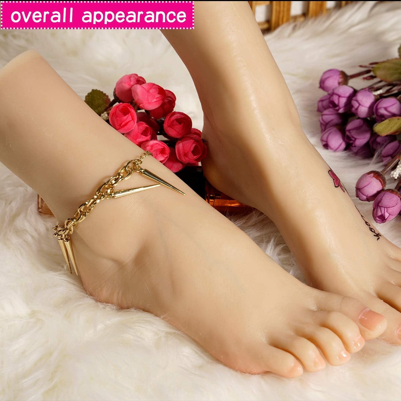 Lifesize Girl Foot Model 1:1 realistisch Kan aderen bloedvaten voor schets tekening schoen sokken Sandaal display Manicure praktijk Movie rekwisieten zien Skelet