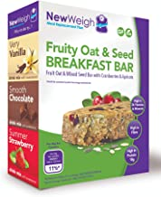 NewWeigh Fruity Oat Seed Meal Replacement Breakfast Bar 7 x 65g – Suitable for Coeliacs Vegans Vegetarians – High Fibre High Protein Estimated Price : £ 13,50