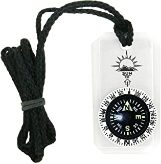Sun Company MiniComp II - Mini Orienteering Compass with Rotating Bezel| Easy-to-Read Zipperpull Compass for Jacket, Parka...