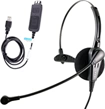 Cost Effective USB Computer Headset, Durable Call Center Headset for VoIP Softphone of MS Lync (Skype for Business), Cisco Jabber
