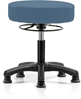 Perch Life Height Adjustable Stool with Stationary Caps | Desk Height 18-23 inches | 250-pound Weight Capacity | 12 Year Warranty (Newport Fabric)