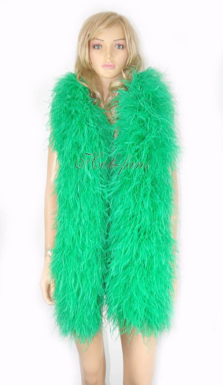 20 ply emerald green Luxury Ostrich Feather 71