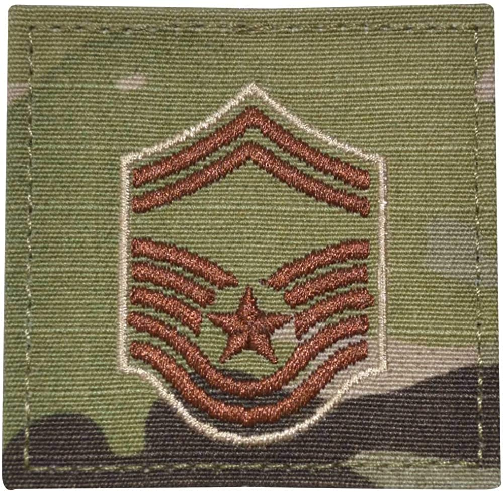 Air Force Senior Master Sergeant Ranking integrated 1st place Rank San Antonio Mall Scorpion Hook and OCP with