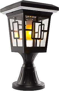 Solar Basics SB-57B Luna- Flame Bulb Solar Accent Light: Stake, Pier and Wall Mounts, 1-Pack, Black