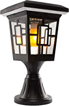 Solar Basics SB-57B Luna- Flame Bulb Solar Accent Light: Stake, Pier and Wall Mounts, 1-Pack, Black