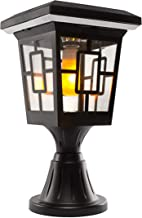 Solar Basics SBG2-57B Luna- Flame Bulb Solar Accent Light: Stake, Pier and Wall Mounts, 2-Pack, Black, 2 Count
