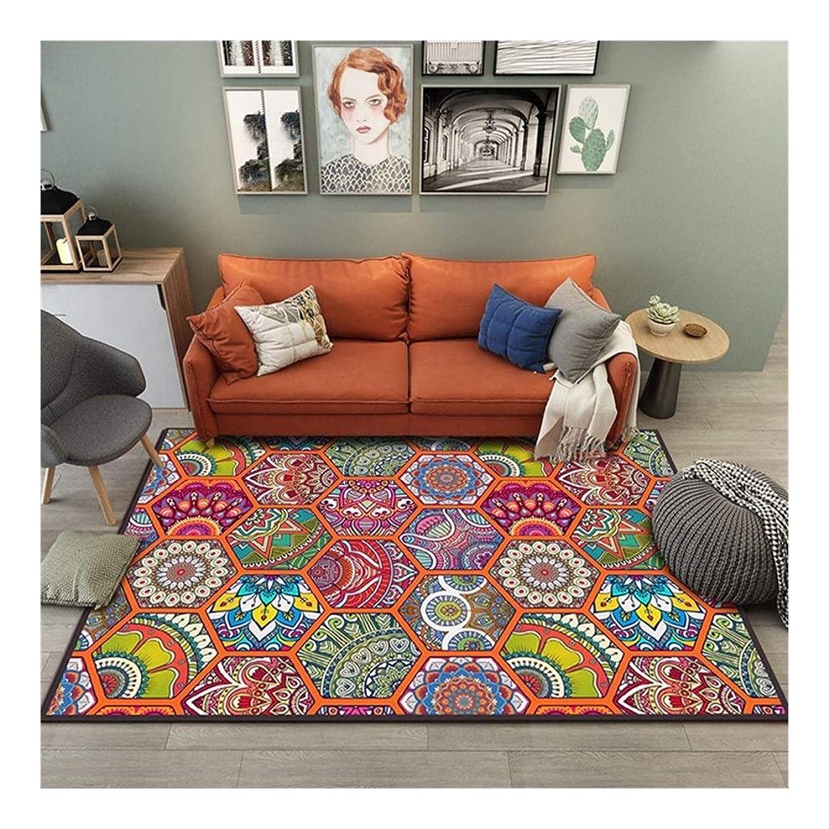 鳴らす三十心理的に敷物寝室、快適でソフトボヘミアンヴィンテージエスニックスタイルのリビングルームの研究ベッドサイドコーヒーテーブルカーペットは洗濯機でカスタマイズ可能 (Color : Q, Size : 120×160cm)