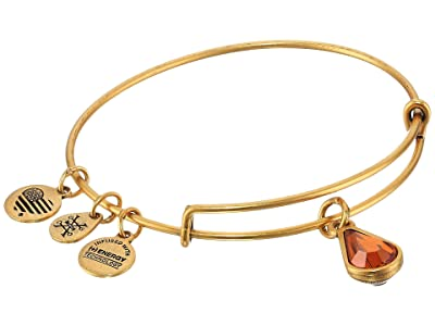 Alex and Ani Swarovski Teardrop Color Code Bangle (November/Rafaelian Gold/Topaz) Bracelet