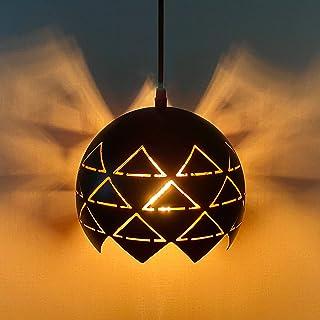 Lovebay pendentif creux lampe Vintage Suspension Lampe Réglable Hauteur Creux Industrielle Pendentif Luminaire E27 suspend...