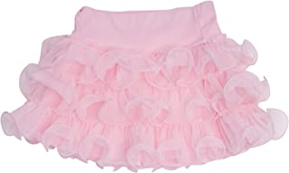 Kate Mack Girl's 7-16 Jenny Annie Dots Tiered Netting Skirt in Pink