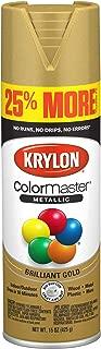 Krylon K03451007 ColorMaster Primer Bonus, Metallic Gold, 15 oz. Spray Paint, 25%