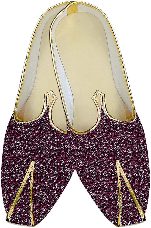 INMONARCH Herren Magenta Hochzeit Schuhe Hawaiian Drucken MJ014516  | Einfach zu bedienen