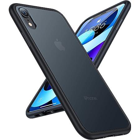 TORRAS 半透明 iPhone XR 用ケース 超 米軍MIL規格取得 マット感 SGS認証 黄ばみなし レンズ保護 ストラップホール付き 6.1インチ対応 アイフォン XR用カバー(ブラック)