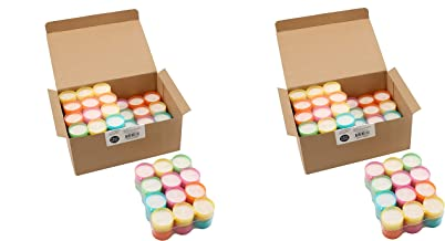 Stonebriar Tea Light Candles 6 to 7 Hr Extended Burn Time, 96 Pack, Multicolor, 96 Count (Тwo Рack)