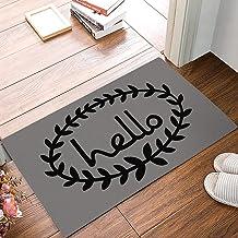 Doormat Hello Grey Back Welcome Door Mat Rug Indoor/Outdoor Mats Welcome Doormat Decor Rug Inch 23.6 X 15.7 inch