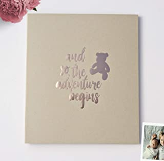 Baby Memory Book Rustic Baby Book Boy Gift Book Boho Baby Nursery Decorations Rustic Baby Shower Guest Book, Photo Booth B...