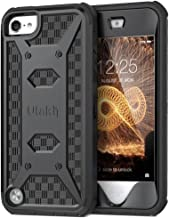 ULAK Case for iPod Touch 7& 6 & 5, Knox Armor Dual Layer Hybrid Protective Cover with Belt Clip Holster for iPod Touch 7th/6th/5th Generation (Black)