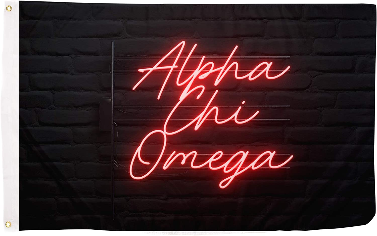 Alpha Chi Limited time trial price Omega AXO Sorority Flag Banner 3 feet x Max 59% OFF Sign De 5
