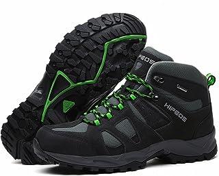[HIFEOS] トレッキングシューズ メンズ レディース 防水 3E ハイカット大きいサイズ 幅広 防滑 登山靴 軽量 ハイキング 通気性 アウトドアシューズ 山登り用靴