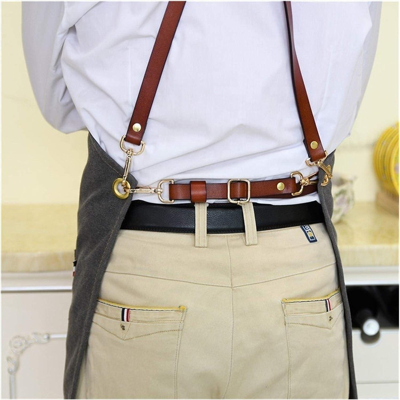 SADDPA Tablier de travail en denim en denim bretellesnotions motif personnalis/é logo bandouli/ère en cuir pour homme et femme Couleur : gris fonc/é, taille : taille unique