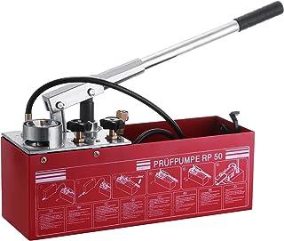 Autovictoria Bomba comprobación 50 BAR 726 PSI Manual bomba de prueba 3 gallon Depósito con doble válvula sistema hidráulico bomba de prueba 45 ml flujo 1,27 cm conexión acero inoxidable para líquidos