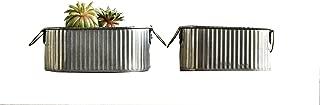 Creative Co-op Corrugated Tin Bucket Set