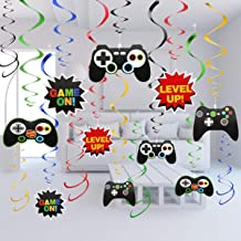 Aresmer 30 Pcs Video Game Hanging Swirl Decorations - Game Party Decorations - Birthday Party Supplies