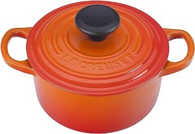 Le Creuset Enameled Cast Iron Signature Round Dutch Oven, 1 qt., Flame