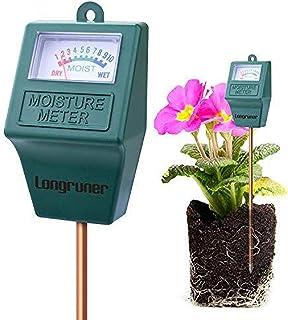 Moisture MeterLongruner Indoor/Outdoor Soil Moisture Sensor MeterSoil Water Monitor Hydrometer for Garden Farm Lawn Plants...