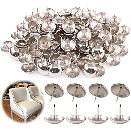 100pcs Crystal Head Nails Upholstery Decorative Flat Furniture Nails for Bedroom