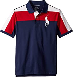 Striped Performance Lisle Polo (Big Kids)