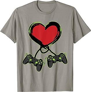 Video Gamer Heart Controller Valentine's Day Shirt Kids...