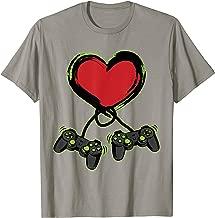 Video Gamer Heart Controller Valentine's Day Shirt Kids Boys