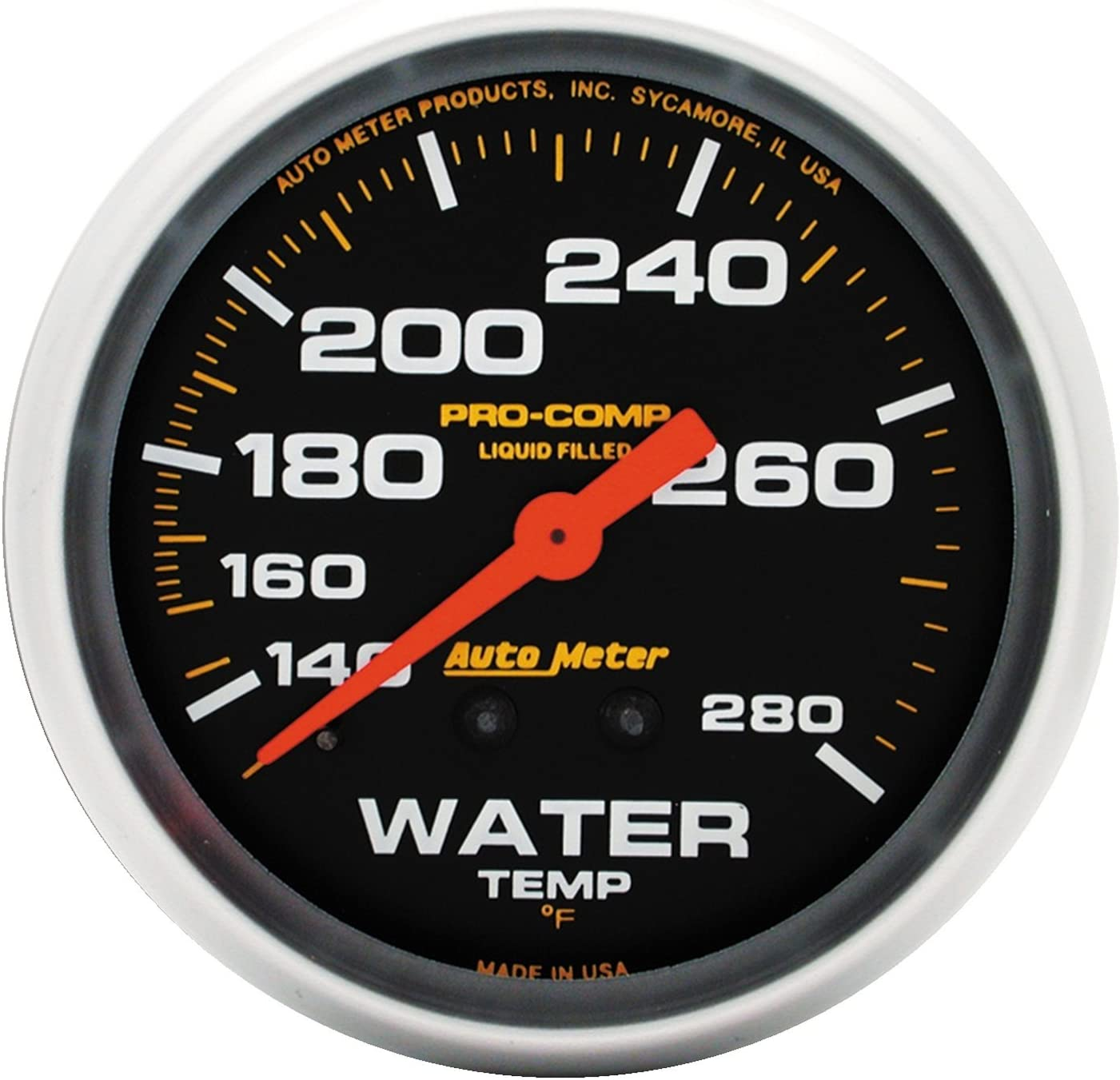 AUTO Fort Worth Mall METER 5431 Pro-Comp 2-5 Mechanical Water Temperature Sale price 8
