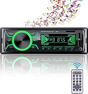 comprar comparacion Autoradio Bluetooth, Radio de Coche 4 x 60W, Soporta Llamadas Manos Libres MP3/FM/AM/SD/AUX/USB Archivo y Control Remoto I...