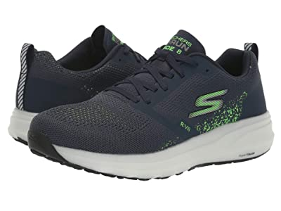 SKECHERS Go Run Ride 8 (Navy/Green) Men