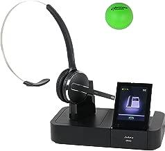 Jabra Pro 9470 Convertible Wireless Headset for Desk Phone, Mobile & Computer Bundle with Renewed Headsets Stress Ball (Renewed)