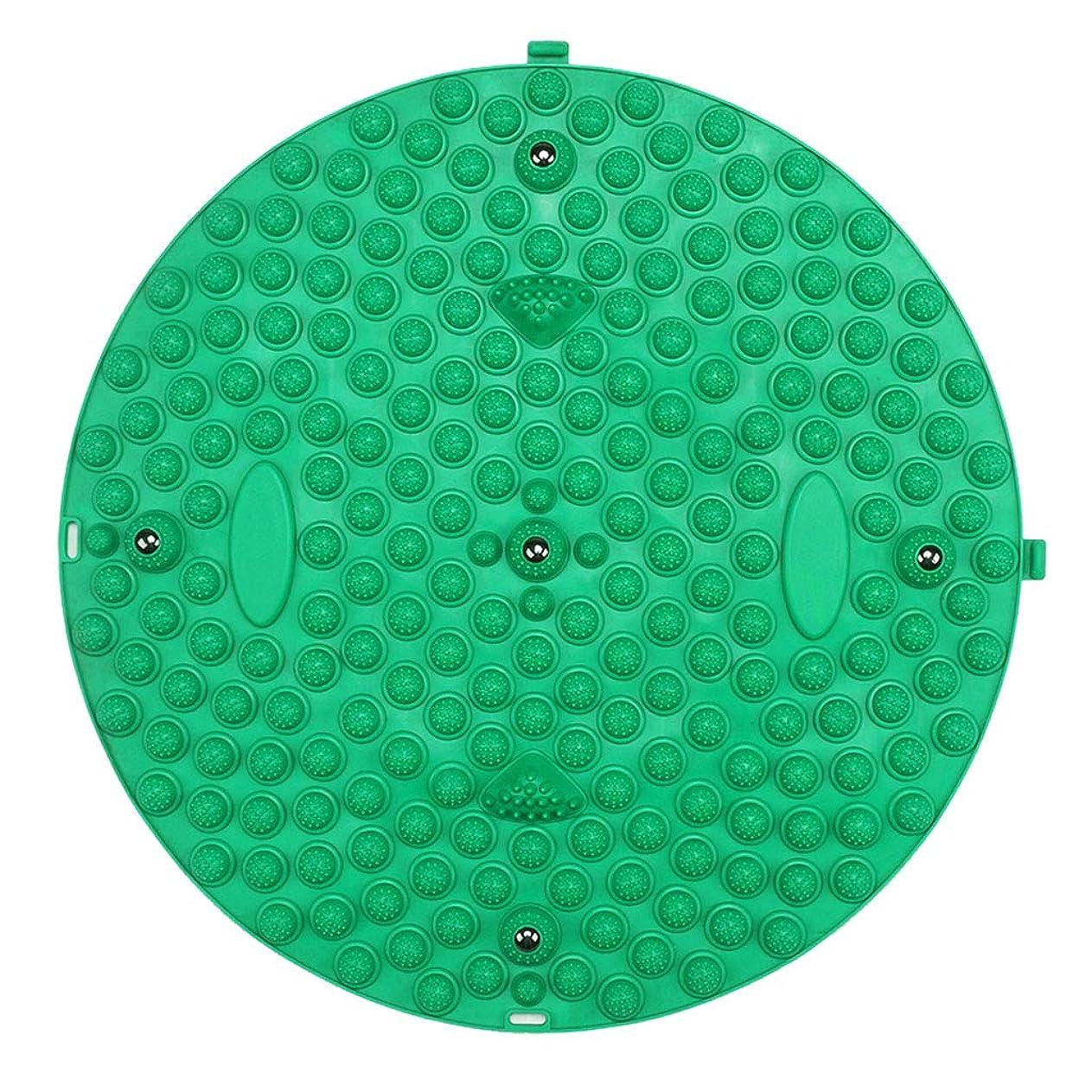 メロディー溶ける下る足のマッサージクッション、ホーム指圧プレートマッサージ足の鍼治療のポイント増す指圧プレートフィットネスマッサージクッション (Color : Green)
