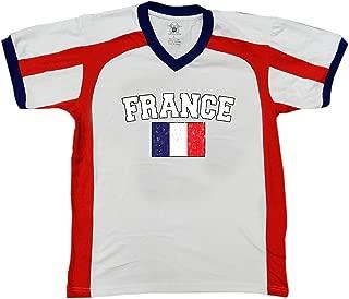Amdesco Flag of France Men's Soccer Style Sport T-Shirt