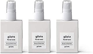 Grüum Gösta Energising Facial Tonic & Toner Trio Pack, Light Citrus Scent 3 x 50ml Trio