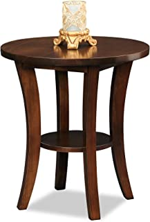 Leick Furniture Boa Collection Solid Wood Round Side End Table