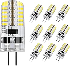 DiCUNO G4 LED Light Bulb, 10-Pack, 3 Watt, Non-dimmable, 230 Lumen, Daylight White 6000K, 12 Volt, 20-25W Equivalent, T3 B...