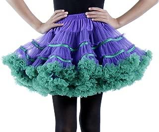 Layered Striped Tulle Costume Petticoat Tutu Skirt for Halloween