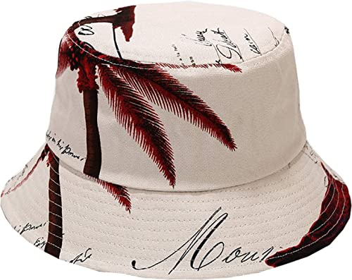 high quality Outdoor Bucket Hat for Women, Reversible Printed Bucket Sun Hat, Fisherman outlet sale outlet online sale Cap Summer Beach Hats Printed outlet online sale