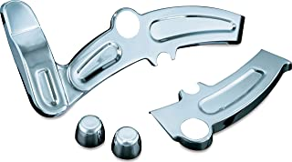 Kuryakyn 7773 Motorcycle Accent Accessory: Boomerang Frame Covers for 2008-17 Harley-Davidson Motorcycles, Chrome, 1 Pair