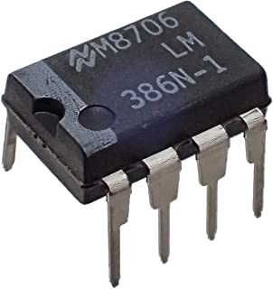 National Semiconductor LM386N-1 Semiconductor, Low Voltage, Audio Power Amplifier, Dip-8, 3.3 mm H x 6.35 mm W x 9.27 mm L (Pack of 10)