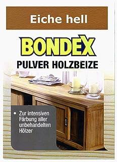 Bondex Holzbeize Pulverbeize Beutelbeize Beize auf Wasserbasis für Möbel 5er Pack - eiche hell