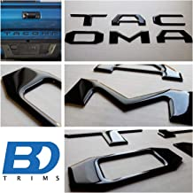 BDTrims Domed Tailgate Letters Inserts fits 2016-2020 Tacoma Models (Black)