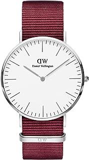 Daniel Wellington Roselyn Stainless Steel Japanese Quartz Watch with Nylon Strap, Red, 20 (Model: DW00100268)