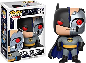 Batman [Robot]: Batman The Animated Series x Funko POP! Heroes Vinyl Figure & 1 PET Plastic Graphical Protector Bundle [#193 / 13645 - B]
